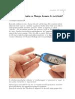 Diabetic Treatment - Vikatan