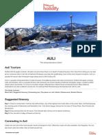 AULI Tourist Guide