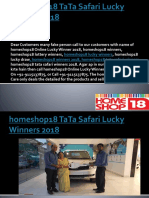 homeshop18 TaTa Safari Winners 2018