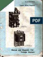 Allen Bradley _ Manual and Magnatic Full Voltage Starter Wiring Diagram