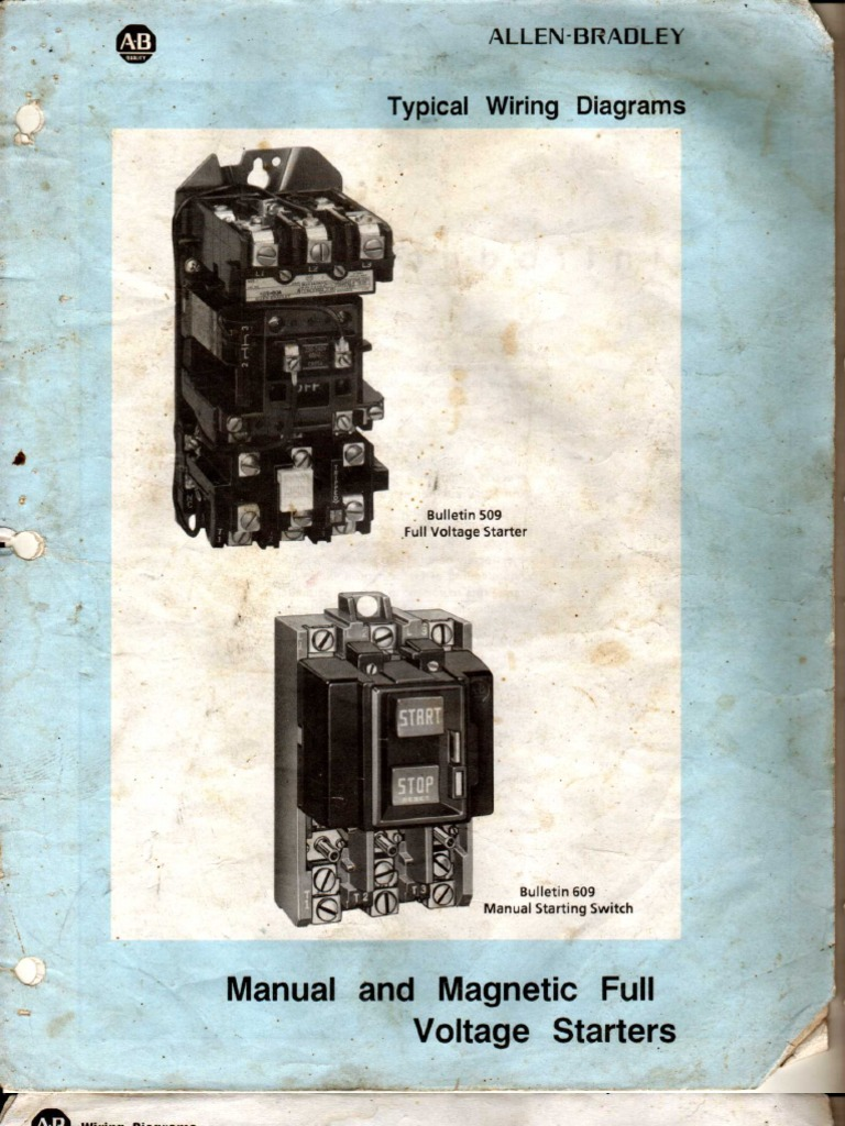 Allen Bradley Manual And Magnatic Full Voltage Starter Wiring Diagram Circuit Uses 4 Relays 3 Push Buttons For Stop Forward Reverse