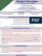 Newsletter 10 18 2010