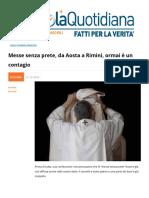 Messe Senza Prete, Da Aosta a Rimini Ormai e Un Contagio