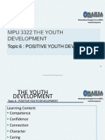 Topic 6 Positive Youth Development