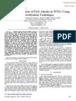 Abdullah Et Al. - 2018 - Intrusion Detection of DoS Attacks in WSNs