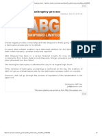 ABG Goes Through Bankruptcy Process