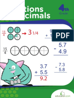 Learn Fractions Decimals Workbook