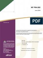 NF P 94-282