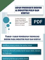 Penerapan Produksi Bersih Pada Industri Pulp Dan Kertas