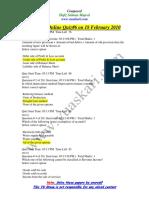 Financial Accounting - MGT101 Spring 2010 Quiz 6