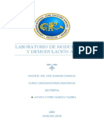 Laboratorio Modulación Demodulación Am