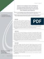 IMPACTO FARMACOECONÔMICO Da Utilização de Antimicrobianos Em Uti