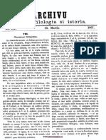 Archivu Pentru Filologia Şi Istoria, Nr. 03, 15 Martie 1867