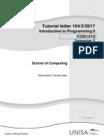 COS1512 Tutorial 104 Exam Info