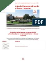 Urbanização do Empreendimento e Áreas Comuns