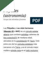 Pléyades (astronomía)