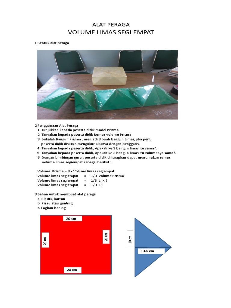 Cara Membuat Limas Segi Empat Dari Karton - Membuat Itu