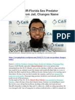 CAIR Child Sex Predator Loose