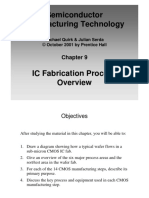 Fabrication Steps MOS Process Flow Semiconductor Manufacturing Technology