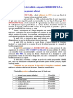 Managementul Dezvoltarii Companiei Mondconf SRL