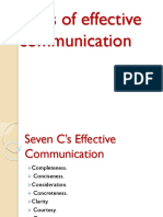 7 C_s of Effective Communication
