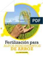 Fertilizacion para altos rendimientos en Arroz PDF