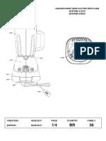 Vista Explodida - Liquidificador Arno Clic Pro 700W - LN48(1)