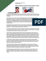 Impacto de La Guerra Comercial Entre Estados Unidos y China