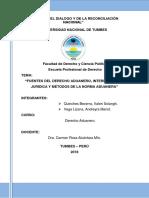 Fuentes del Derecho Aduanero, Interpretación Jurídica y Métodos de la Norma Aduanera