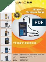 Ultrasonic Thickness Gauge TT100,110,120,130