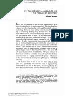 BUBNER - Kant, Transcendental Argument and the Problem of Deduction