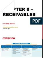 Chapter 8 – Receivables Lecture Notes - Students