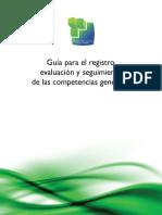 Guía Para El Registro, Evaluación y Seguimiento de Las Competencias Genéricas