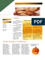 Newsletter Los Cuidadores - octubre-