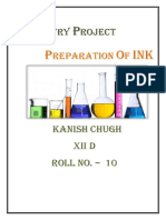 Chemistry Project-preperation of ink