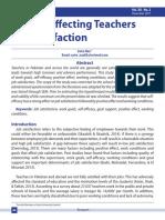 Factors Affecting Teachers JOB