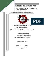 CONCRETO ARMADO (componentes)