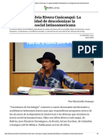 Entrevista a Silvia Rivera Cusicanqui