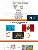 Evolucion de Mkt en El Peru