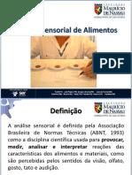 Análise Sensorial Dos Alimentos