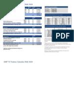 MSF VI Tuition Calendar 2018-20