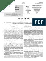 Ley 693 de 2001 (Dicta Normas Sobre El Uso de Alcoholes Carburantes)