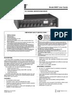 Shure - 6 Ch Microphone Mixer (us_pro_m367_en_ug)