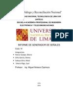 Informe Generador de Senales