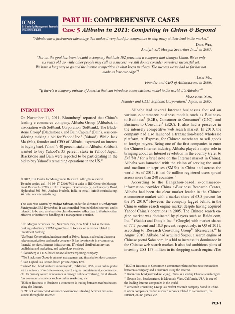 Alibaba Case Study | Alibaba Group | Baidu