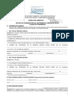 Formulario Ambiental Para Proyectos Termoelectricos Geotermicos e Hidroelectricos y Lineas de Transmision