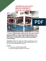 Ayala Alabang house for rent