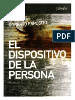 Esposito Roberto El Dispositivo de La Persona