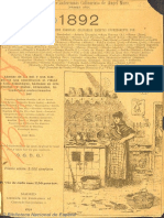 Almanaque de Conferencias Culinarias. 1892
