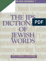 Joyce Eisenberg, Ellen Scolnic-The JPS Dictionary of Jewish Words-The Jewish Publication Society (2001)